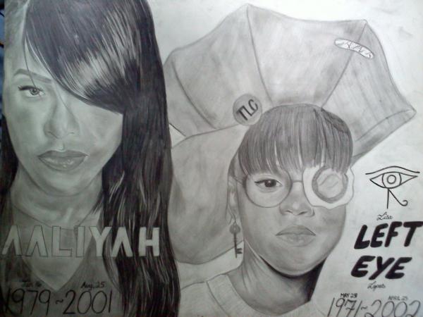 Lisa Lopes, Aaliyah by EricaMartin